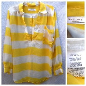 Lucy Love Striped Morrison Top